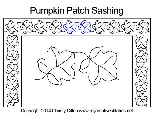 Pumpkin patch sashing quilt pattern
