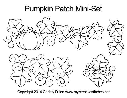 Pumpkin patch mini quilting designs free