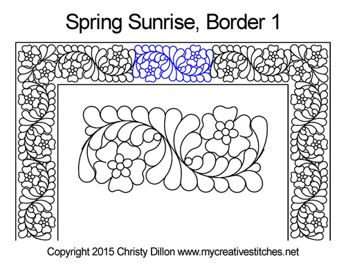 Spring sunrise border 1 quilting design