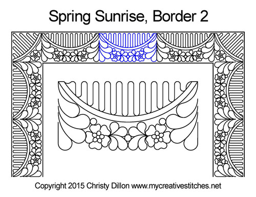 Spring sunrise border 2 quilting design