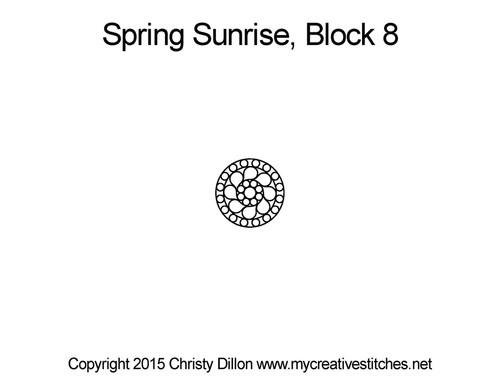 Spring sunrise round block 8 quilt pattern