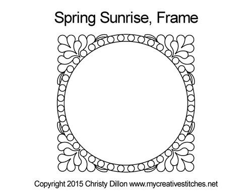 Spring sunrise digital frame quilt pattern
