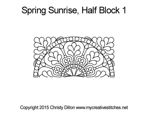 Spring sunrise half block quilt designs
