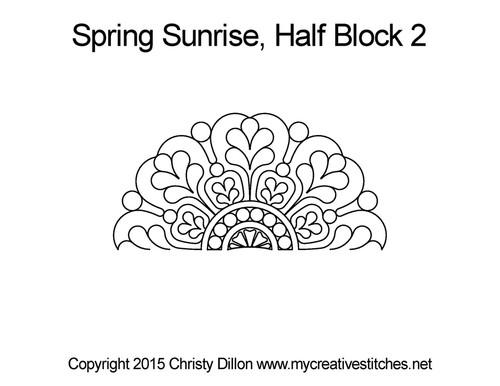 Spring sunrise half block 2 quilt patterns
