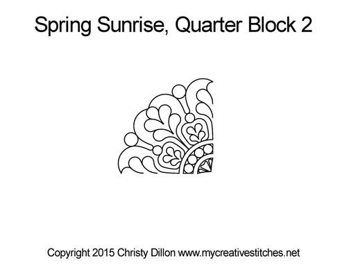 Spring sunrise quarter block design