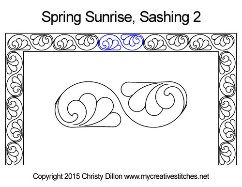 Spring sunrise sashing 2 quilt design