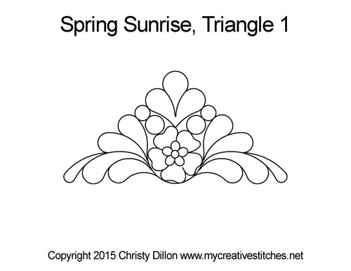 Spring sunrise quilting design for triangle 1