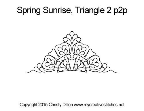 Spring sunrise quilting design for triangle 2 p2p