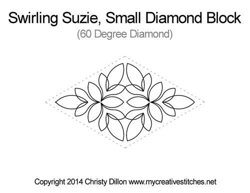 Swirling suzie small diamond block quilt pattern