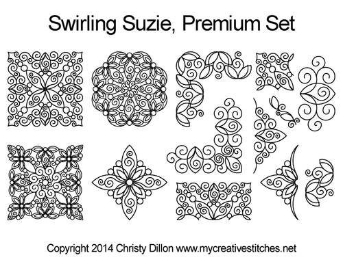 swirling suzie quilting design patterns