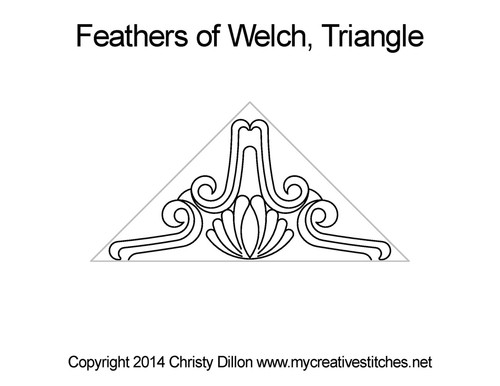 Feather of welch triangle quilt pattern