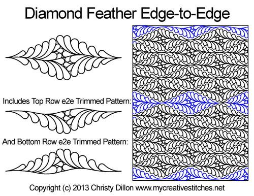 Diamond Feather Edge-to-Edge