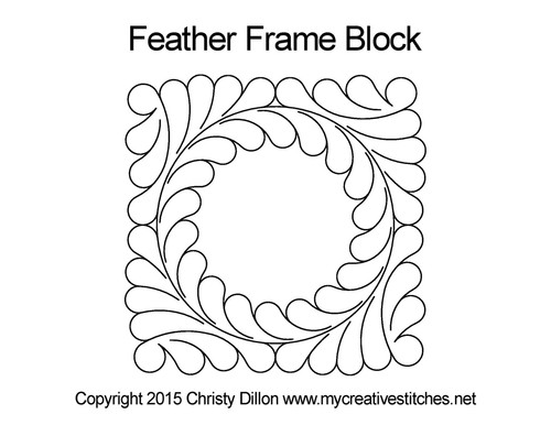 Feather Frame Block quilt pattern