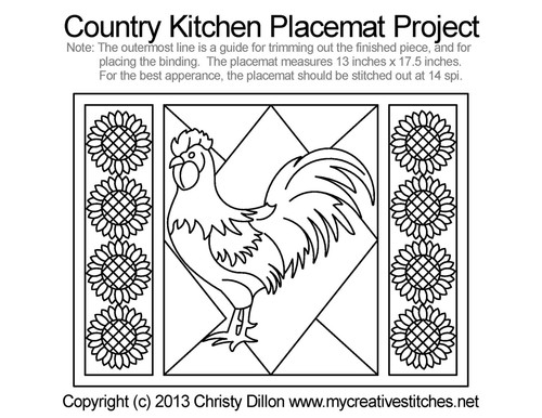 Country kitchen free placemat quilt project