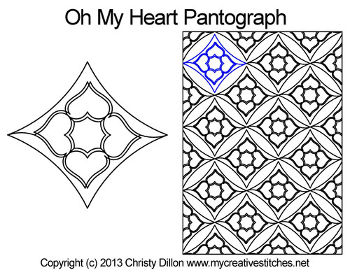 Oh my heart pantographs quilting