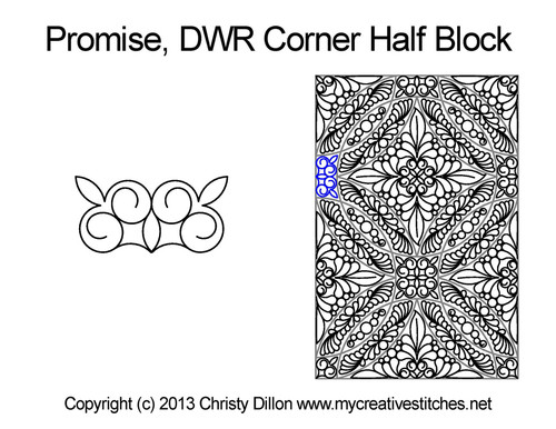 Promise DWR corner half block quilt pattern