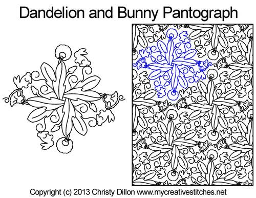 Dandelion and bunny digital pantographs
