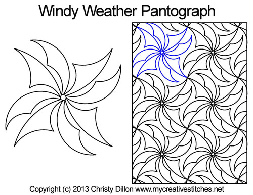 Windy weather long arm quilting pantograph