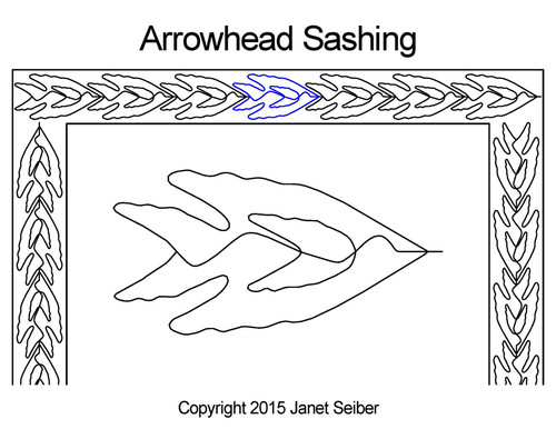 Arrowhead sashing quilting pattern