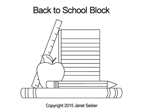 Back to school digital block quilt pattern