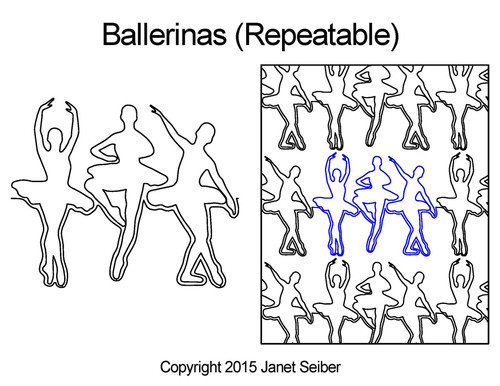 Ballerinas computerized quilting design