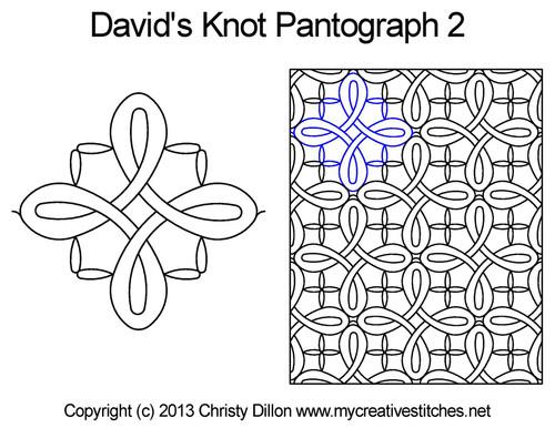David's knot long arm quilting pantographs 2