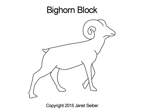 Bighorn computerized block quilting patterns