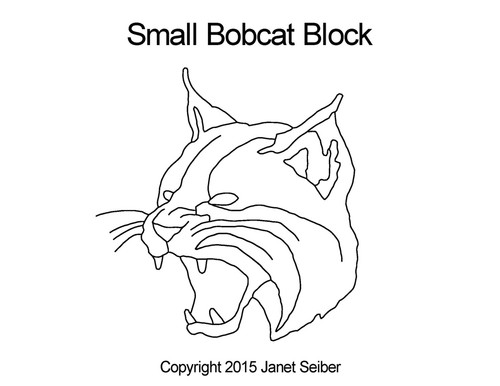 Small bobcat quilting design for blocks