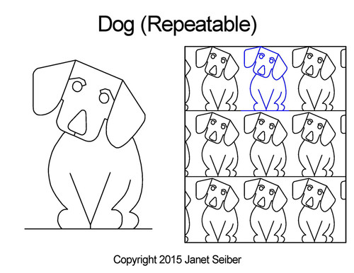 Dog computerized quilting designs