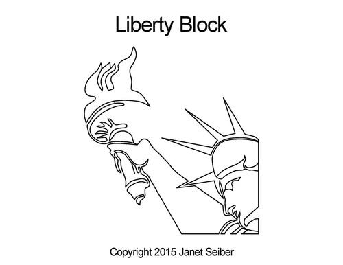 Liberty quilting design for blocks