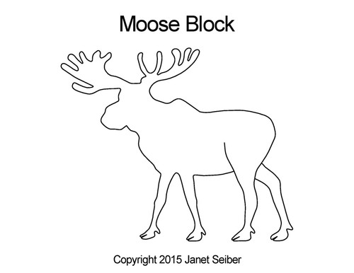 Moose computerized block quilt designs