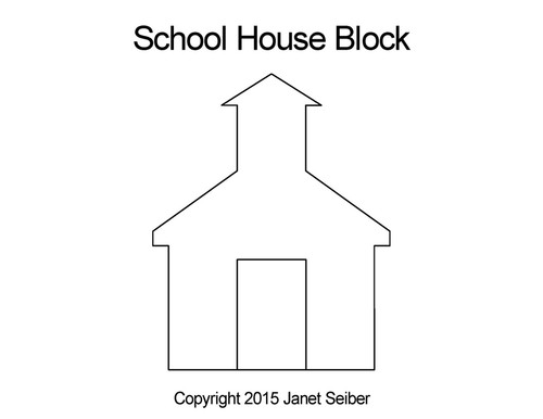 School house quilting design for blocks