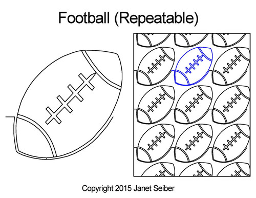 Football repeatable digital quilting ideas
