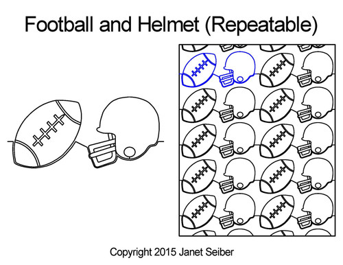 Football & helmet repeatable quilting ideas