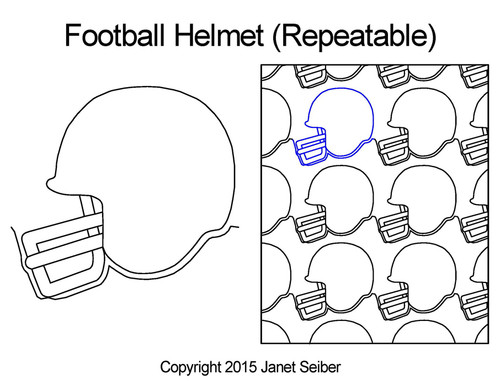 Football helmet repeatable quilt pattern