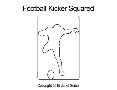 Football kicker squared quilting design