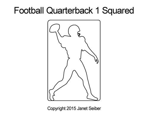 Football quarterback 1 squared quilt design