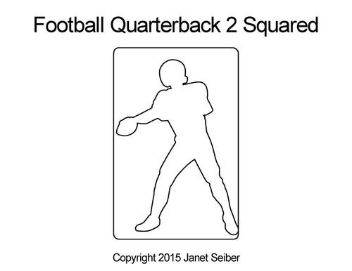 Football quarterback 2 squared quilt design