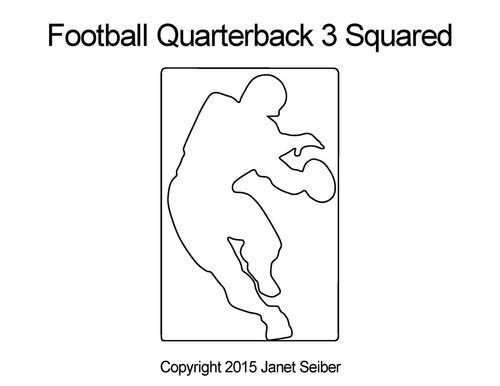Football quarterback 3 squared quilt design