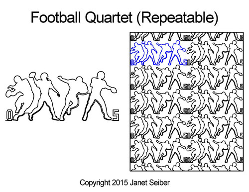Football quartet digital quilting pattern