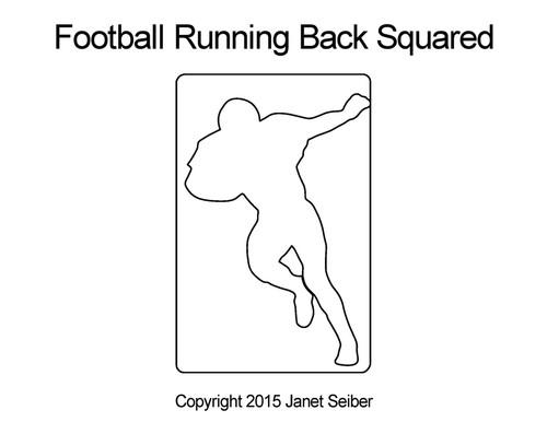 Football running back squared quilt ideas