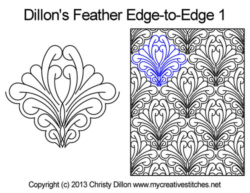 Dillon's feather edge to edge 1 quilt design