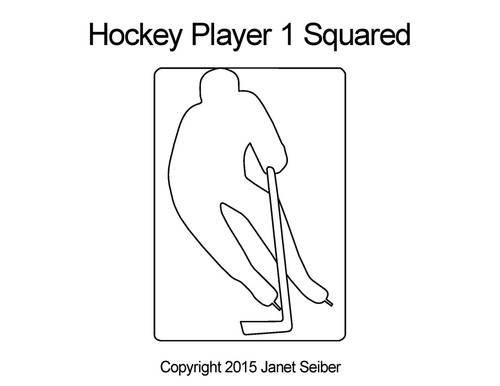 Hockey player 1 squared quilt design