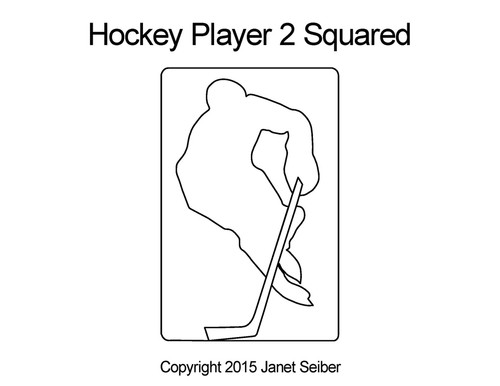 Hockey player 2 squared quilt design