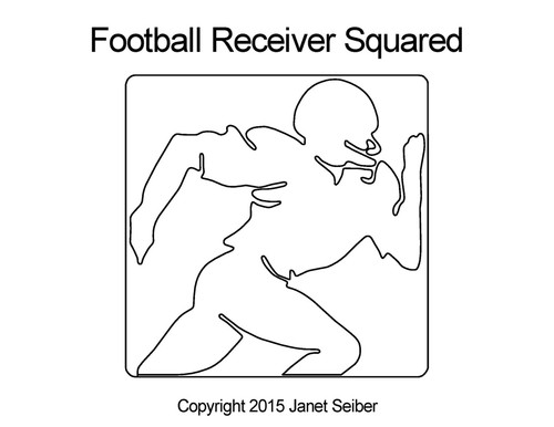 Football receiver digital squared quilt pattern