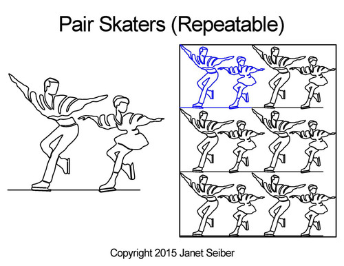 Pair skaters repeatable quilting designs