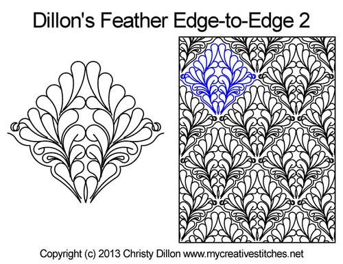 Dillon's feather edge to edge 2 quilt design