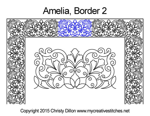 Amelia border quilting design