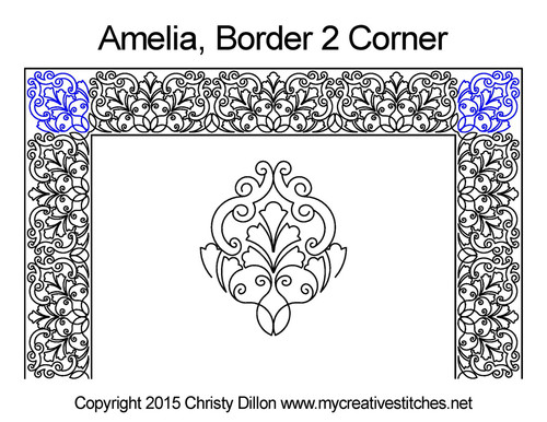 Amelia border & corner quilt design