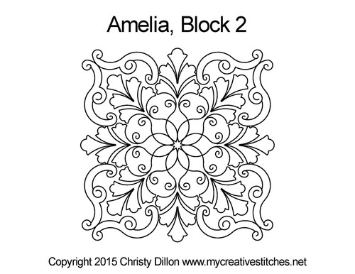 Amelia square block quilt pattern